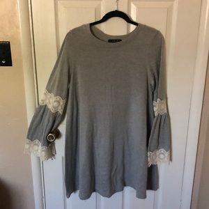 Bell sleeve sweater tunic